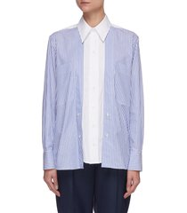 'elaina' panelled shirt