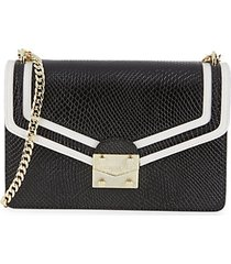 corinne python-embossed leather shoulder bag