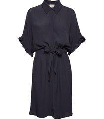 ariana shirt dress boozt kort klänning blå minus