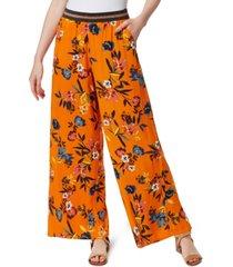 jessica simpson shani floral-print pull-on pants