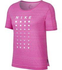 camiseta icon clash nike mujer cj2441-601 rosa