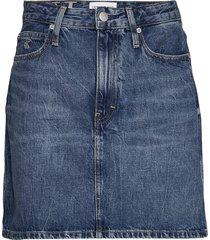 high rise mini skirt kort kjol blå calvin klein jeans