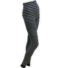 gestreepte leggings, zwart/grijs 40/42