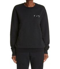 women's off-white liquid melt arrow logo women's sweatshirt, size medium - black