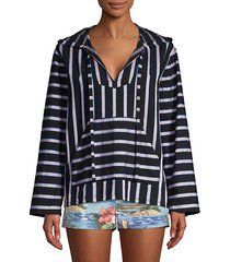 dukes baja striped hooded tunic top