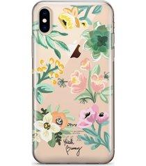 etui na iphone mint flowers