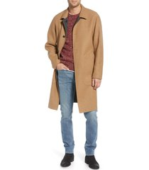 men's rag & bone brent reversible wool blend coat, size large - beige
