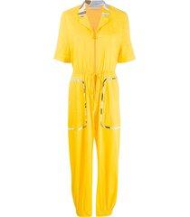 emilio pucci print details jumpsuit - yellow