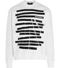 dsquared2 logo tape sweatshirt
