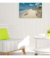 """icanvas """"beach house view i"""" by zhen-huan lu gallery-wrapped canvas print (26 x 40 x 0.75)"""