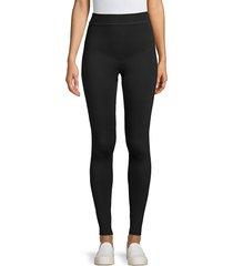 hue women's stretch leggings - black - size m