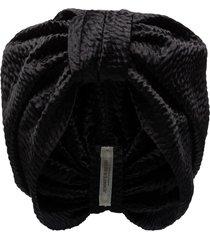 jennifer behr etta knot detail turban - black