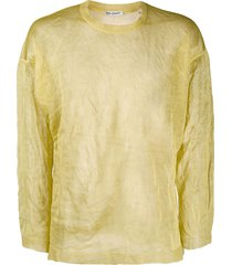 our legacy lightweight crinkled knit sweater - yellow