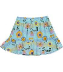 minifalda turquesa  offcorss