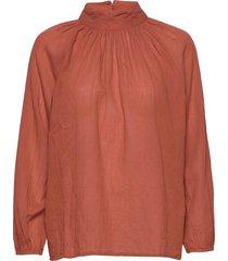 new sand shirt blouse lange mouwen oranje moshi moshi mind