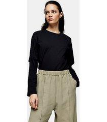 *black elbow slash t-shirt by topshop boutique - black