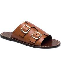 firenzia shoes summer shoes flat sandals brun by malene birger