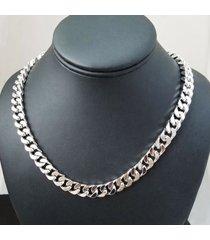 catena di dichiarazione collana in oro argento collana in acciaio inossidabile a catena spessa gioielli di moda per le donne