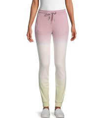 marc new york performance women's ombré french terry jogger pants - mauve combo - size xs