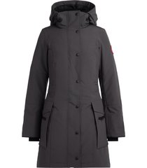 canada goose kinley grey graphite parka with hood