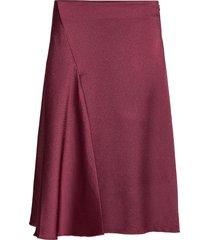 eva skirt 11163 knälång kjol röd samsøe samsøe