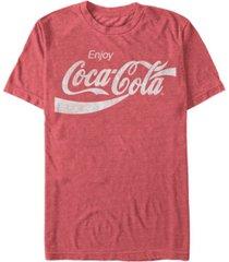 coca-cola men's vintage-like enjoy coca-cola short sleeve t-shirt