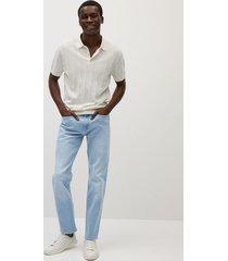 bob straight-fit jeans met lichte wassing