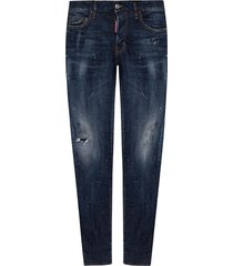 slim jean jeans with raw edge