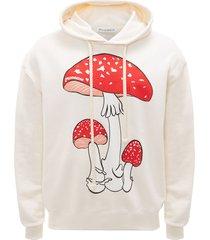 jw anderson mushroom print hoodie - white