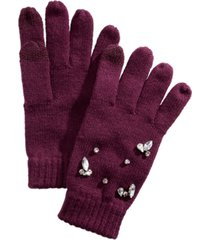 inc gemstone-embellished tech gloves, created for macy's