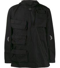 a-cold-wall* detachable sleeve cargo jacket - black