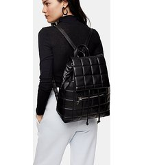 bailey black quilted backpack - black