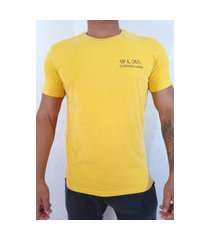 camiseta mc ckj masc nyc 10065 - mostarda
