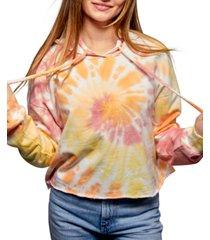 self esteem juniors' tie-dyed hoodie