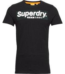 camo international infill tee t-shirts short-sleeved svart superdry