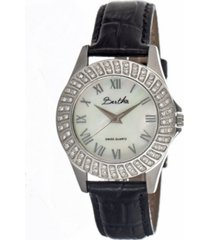 bertha quartz audrey collection silver leather watch 32mm