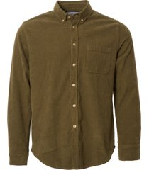 portuguese flannel lobo corduroy shirt - olive aw18009