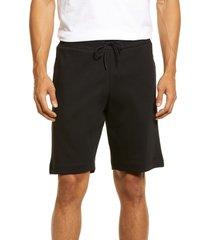 men's a.p.c. rene fleece shorts, size medium - black
