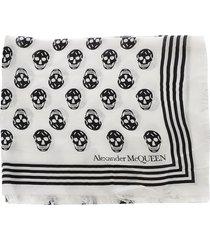 alexander mcqueen white modal biker scarf