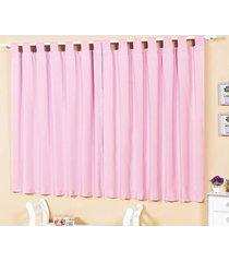 cortina 2 metros baila rosa com 1 peças em poliéster - ione enxovais