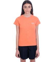 a.p.c. denise t-shirt in orange cotton