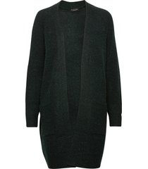 slflulu ls knit long cardigan noos gebreide trui cardigan blauw selected femme