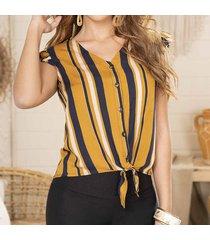 envío gratis blusa maryam café-azul para mujer croydon