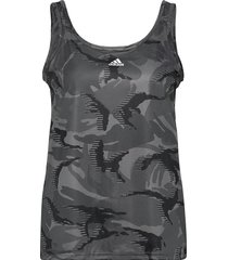 designed to move aeroready camouflage-print tank top w t-shirts & tops sleeveless grå adidas performance