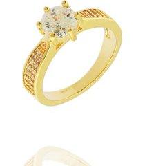 anel solitário dona diva semi jóias feminino