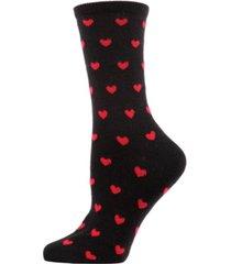 hearts cashmere women's crew socks