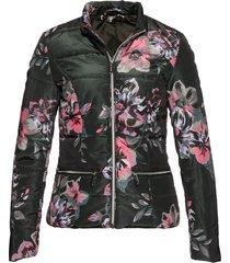 giacca trapuntata a fiori (verde) - bpc selection