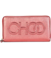jimmy choo women's bettina omna leather continental wallet - candy
