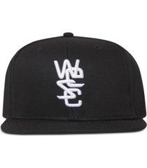 wesc logo flat-brim cap