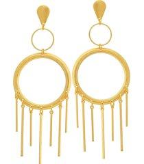 brinco dona diva semi joias maxi dourado - kanui